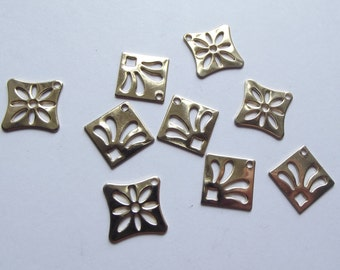 Vintage gold plated charms
