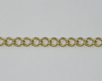 Matte Gold, 8mm x 7mm Curb Chain #CC179