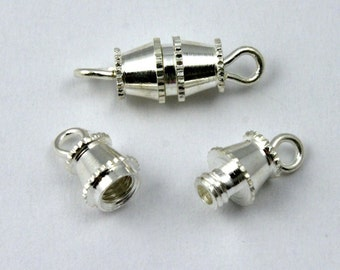 16mm Silver Barrel Clasp #CLB001