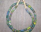 Mixed Millefiori and Fancy Painted Bead Strand from the West African Trade