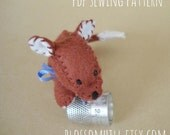 Woodland  Fox sewing pattern and tutorial -  PDF Instant download