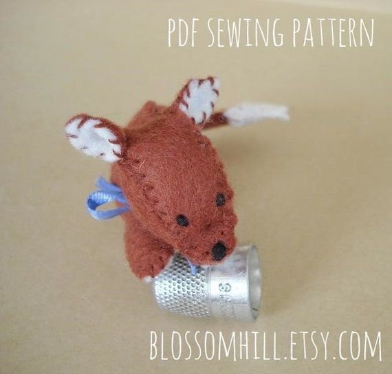 Reserved - Woodland  Fox sewing pattern and tutorial -  PDF Instant download