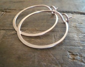Rose Gold Every Day Hoops - Handmade in 14kt Rose Goldfill, Your choice of sizes