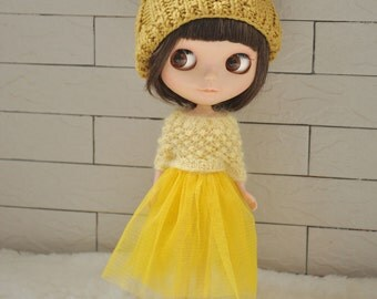Babydoll TUTU Skirt for Blythe-Bright yellow