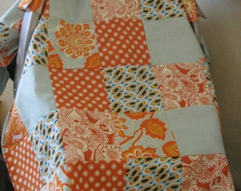 NEW Boutique Infant Carrier Cover Canopy Car seat Patchwork Cover