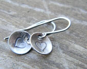 Valentines Day Sale - petite heart earrings