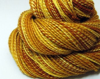 Handspun Yarn - Honey Caramel - 175 Yards
