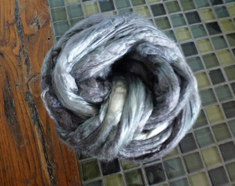 Hand Dyed Silk Top Pearl Grey 2 Ounces