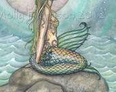The Pastel Sea 8 x 10 Mermaid Fantasy Watercolor Fine Art Print by Molly Harrison - Mermaids, Illustration, Artwork