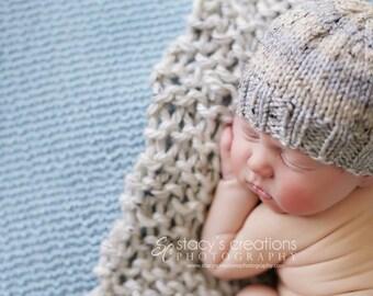Wheat - Mini Prop Blanket speckled cream off white knit newborn photography prop basket bucket bowl filler stuffer