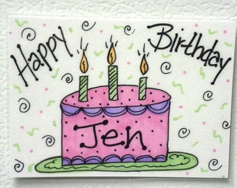 Personalized Happy Birthday Magnet