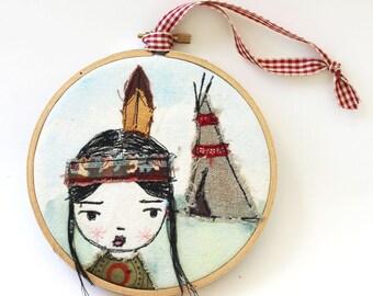 Hoop Art,  Indian Girl