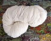 Natural Handspun Merino Wool Yarn Fine White Merino 195g 395 Yards Chunky HSM02