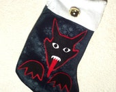 OOAK Xmas With Krampus Stocking
