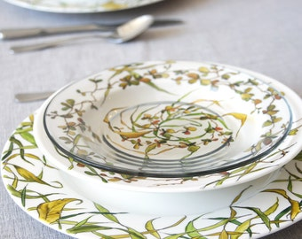 Hand Painted Custom 3-Piece Table Setting | Grass Fields Collection.