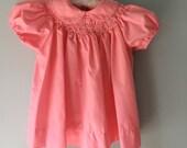 Pink Smocked Baby Girl Dress