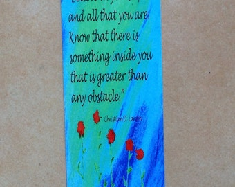 Motivational Bookmark With Christian D. Larson Quote