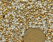 Lot TEENY Small ROUND Lot of (650) Rhinestones Crystal Clear Glass  Vintage Three Sizes 4ss,, 6ss, 8ss  jc teenymix MORE AVAlLABLE