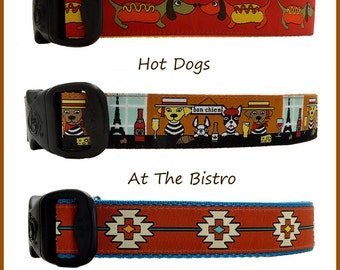 Southwest dog Collars, Southwestern dog Collars, Weiner Dog Collars, French Dog Collars, Paris Dog Collars, Labrador Dog Collars