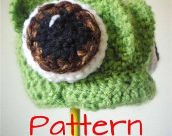 Crochet Hat Pattern - Crochet Chameleon Animal Beanie - Tangled / Rapunzel / Pascal - Crochet Beanie Pattern