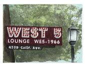 West Seattle No. 5 - A2 Greeting Card