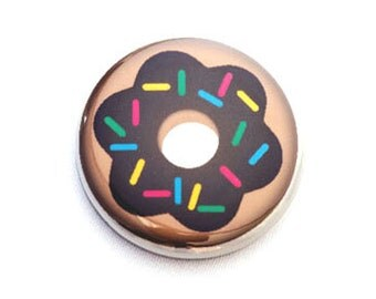 Doughnut One Inch Pinback Button, Magnet, or Keychain