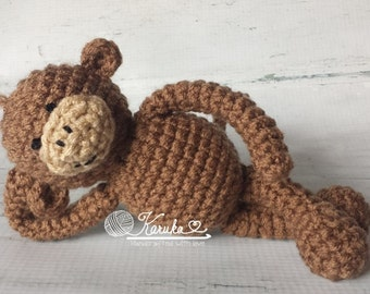 Little Monkey Stuffed Toy, Monkey Photo Prop, Animal Props, Newborn Photography, Tiny Stuffed Toy Props, Crocheted Toys, Made to Order