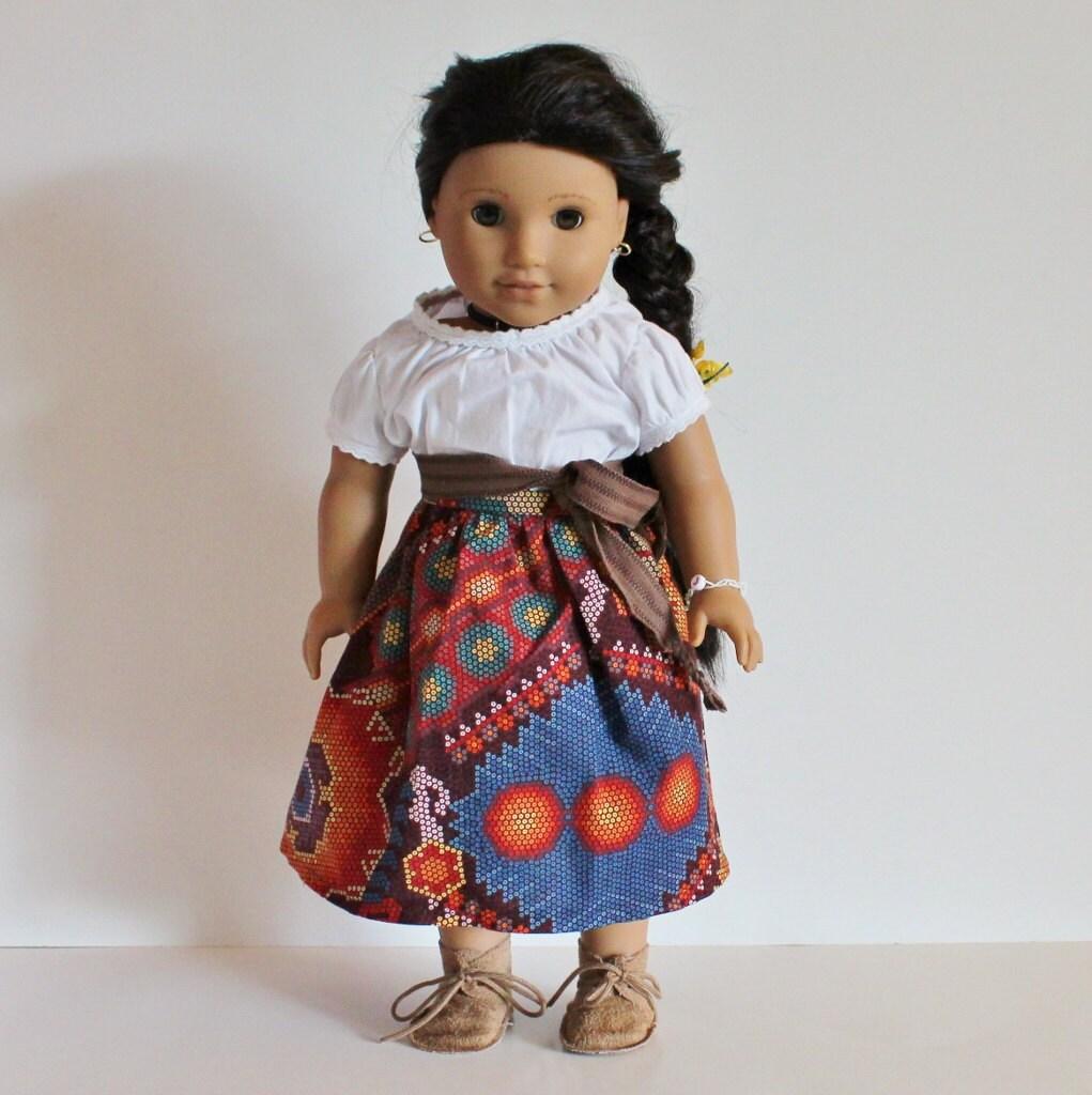 18 inch american girl doll josefina skirt. Black Bedroom Furniture Sets. Home Design Ideas