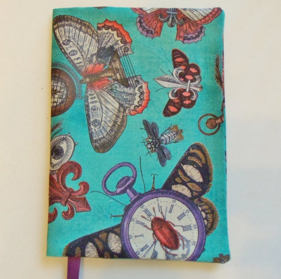 Fabric Book Covers For Paperbacks ~ Butterfly fabric book cover paperback standard