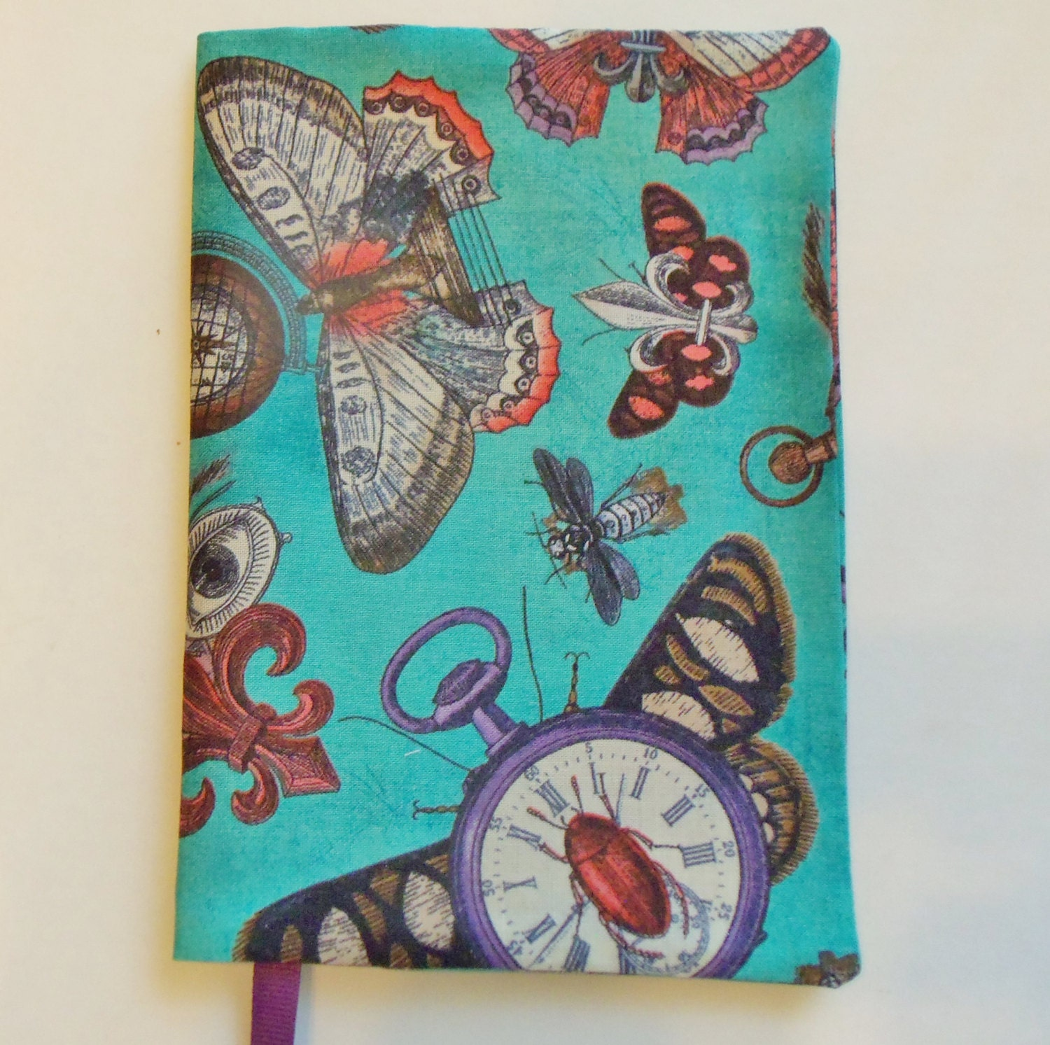 Fabric Paperback Book Covers : Butterfly fabric book cover paperback standard