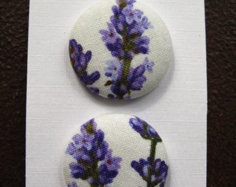 """Wearable Sew On Fabric Covered Buttons - Size 45 or 1 1/8"""" Lavender"""