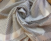 """Scarf 27"""" square 100% acetate black and white from Italy"""