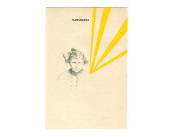 """art print - collage """"memoranda"""""""