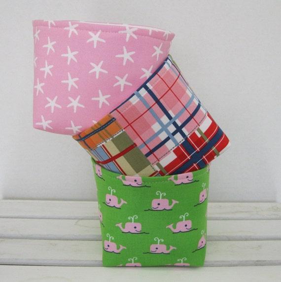 Madras Storage Baskets: Items Similar To Mini Fabric Storage Container Organizer