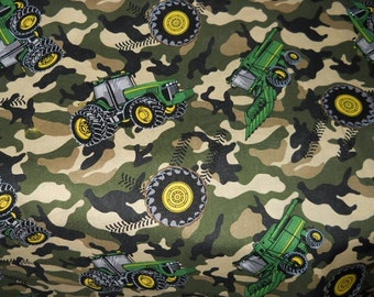 MadieBs John Deere Tractors on Camo Kindermat Pad Cover Personalized