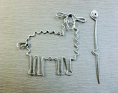 LLAMA SHAWL PIN wirework