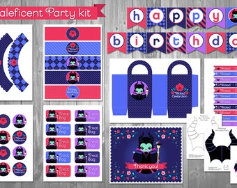 Maleficent Party Kit
