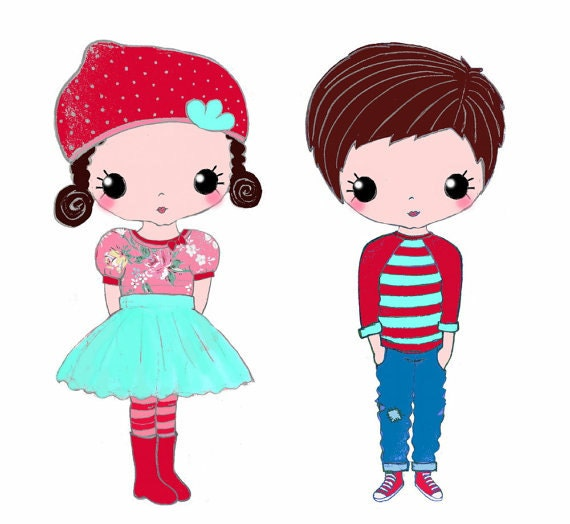 Custom Illustration or Portrait or Logo Branding  Characters Couple Just for you