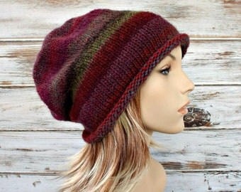 Instant Download Knitting Pattern - Knit Hat Knitting Pattern - Knit Hat Pattern - Atticus Slouchy Beanie Pattern Womens Hat Pattern