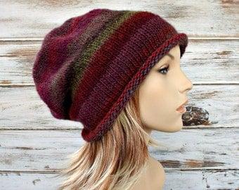 Instant Download Knitting Pattern - Knit Hat Knitting Pattern - Knit Hat Pattern - Atticus Slouchy Beanie Pattern Womens Hat Pattern