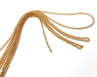 Vintage Brass Curb Chain - Soldered (12 Feet) (C522-A)