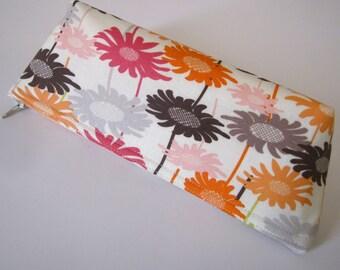 Multi Floral Pencil Case / Makeup Pouch