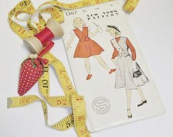 Vintage 1940s Girls Skirt & Vest Sewing Pattern | New York Pattern Co