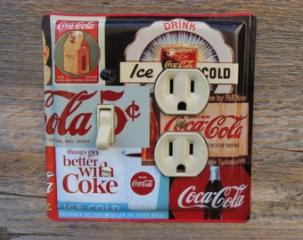 Coca Cola Decor Kitchen Diner Theme Lighting Light Switch Outlet Cover ...