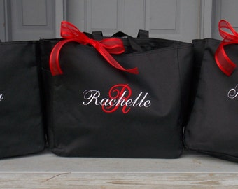 Personalized Bridesmaid Totes Monogrammed  - add on -