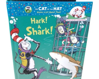 IPad Mini Cover, Kindle Case, Kobo Nook cover, Dr. Seuss Hark a Shark Book, Tablet Device Accessories