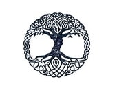 CLEARANCE Celtic Tree of Life Rubber Stamp unmounted stamp, mounted on acrylic block