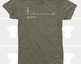 Grass Men's TShirt, Men Tee Shirt, Grass, Spring, Summer, Lawn, Outdoors, Garden, Green, Funny, Olive Shirt (4 Colors) TShirt for Men