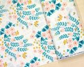 Organic Cotton Cloud9 Fabrics - Lotus Pond - Meadow Blossoms - white