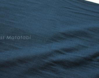Japanese Fabric - Kobayashi solid double gauze - navy blue - 50cm